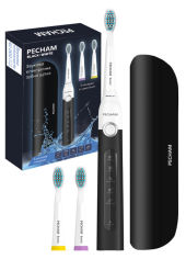 Электрическая зубная щетка PECHAM Black-White Travel (0290119080400) от Rozetka