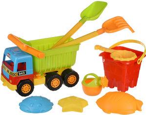 Акция на Набор для игры с песком Same Toy с самосвалом 9 предметов (943Ut) от Rozetka