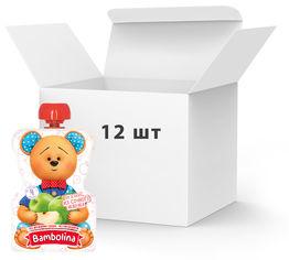 Упаковка фруктового пюре Bambolina Яблоко с 4 месяцев 90 г х 12 шт (4813163002141) от Rozetka