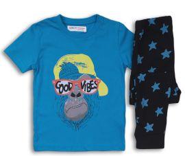Пижама (футболка + штаны) Minoti Pyja 20 13535 98-104 см Синяя (5059030350277) от Rozetka