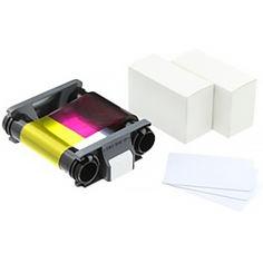 Цветная лента BADGY для Badgy100/200 + 100 карточек (CBGP0001C) от Foxtrot