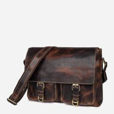 Акция на Мужская кожаная сумка Vintage 14524 Коричневая от Rozetka
