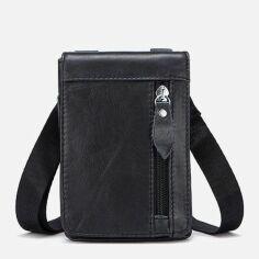 Акция на Портмоне мужское из натуральной кожи Vintage leather-14691 Черное от Rozetka