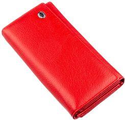 Акция на Кошелек кожаный ST Leather Accessories 18882 Красный от Rozetka