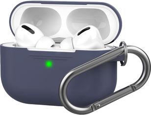 Акция на Силиконовый чехол AhaStyle с карабином для Apple AirPods Pro Dark Blue (AHA-0P100-NBL) от Rozetka