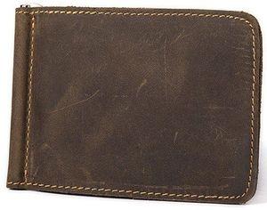 Акция на Зажим для денег Vintage 14935 Коричневый от Rozetka