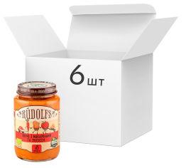 Упаковка пюре органического Rudolfs Лосось с макаронами и овощами 190 г х 6 шт (14751017941789) от Rozetka
