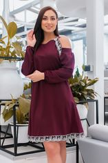 Акция на Платье EVVA 1127 54-56 Бордовое (2000000427492) от Rozetka