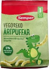 Палочки Semper Vego&Eko из зеленого горошка 12+ 50 г х 6 шт (17310100400557) от Rozetka