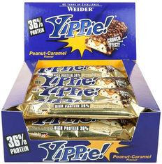 Протеиновый батончик Weider Yippie! 70 г Peanut-Caramel 12 шт (4044782907122) от Rozetka