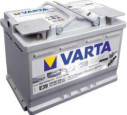 Автомобильный аккумулятор Varta Silver Dynamic AGM 70А Ев (-/+) E39 (760EN) (570901076) от Rozetka