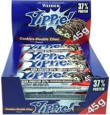 Протеиновый батончик Weider Yippie! 45 г Cookies-Double Chocolate 12 шт (4044782906972) от Rozetka