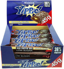 Протеиновый батончик Weider Yippie! 45 г Brownie-Vanilla 12 шт (4044782907177) от Rozetka