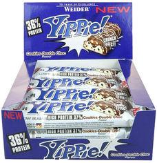 Протеиновый батончик Weider Yippie! 70 г Cookies-Double Chocolate 12 шт (4044782907092) от Rozetka