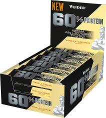 Протеиновый батончик Weider 60% Protein bar 45 г Vanilla-Caramel 24 шт (4044782909171) от Rozetka