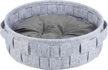 Лежак Trixie Lennie фетр плетеный Серый 40 см (4047974383919) от Rozetka