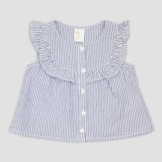 Блузка H&M 5742827 68 см Бело-синяя в полоску (hm01674716996) от Rozetka
