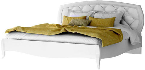 Кровать Aqua Rodos Сан Ремо 160 х 200 см Белый глянец (SRBED-160-WHITE-GLOSS) от Rozetka