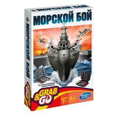 Акция на Настольная игра Hasbro Gaming Grab and Go Морской бой (B0995) от Будинок іграшок