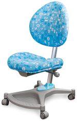 Кресло Mealux Neapol Abk (арт.Y-136 ABK) обивка голубая с буквами от Y.UA