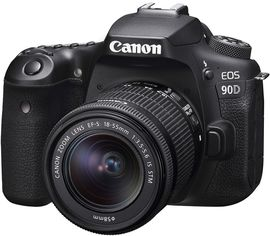 Фотоаппарат Canon EOS 90D EF-S 18-55mm IS STM Kit Black (3616C030) Официальная гарантия! от Rozetka