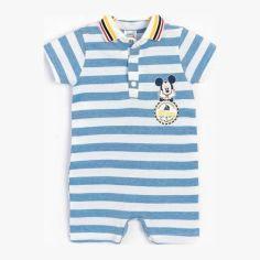 Акция на Песочник Disney Mickey Mouse MC15445 68-74 см Белый с синим (8691109800404) от Rozetka
