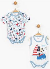 Акция на Боди Disney Mickey Mouse MC15469 62-68 см 2 шт Белое (8691109784186) от Rozetka