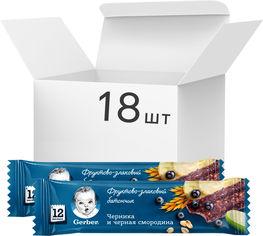 Упаковка фруктово-злаковых батончиков Gerber с черникой и черной смородиной для детей с 12 месяцев 25 г х 18 шт (4603341000164) от Rozetka
