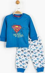 Пижама (футболка с длинными рукавами + штаны) DC Comics Супермен SM13496 68-74 см Синяя с белым (8691109648303) от Rozetka