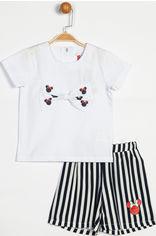 Костюм (футболка + шорты) Disney Minnie Mouse MN13980 92 см Синий с белым (8691109718075) от Rozetka