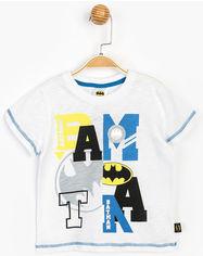 Акция на Футболка DC Comics Бэтмен BM15577 104 см Белая (8691109785879) от Rozetka