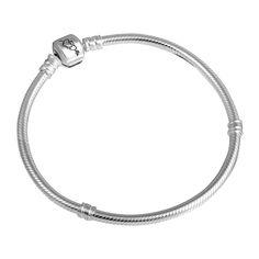 Серебряный браслет для шармов Сердца 000043232 18 размера от Zlato