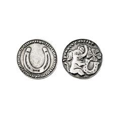 Серебряная монета Тройное счастье со слоником, четырехлистным клевером и подковой 000080311 от Zlato