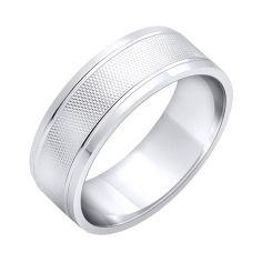 Акция на Обручальное кольцо Стиль из серебра с фактурной поверхностью 000102981 21 размера от Zlato