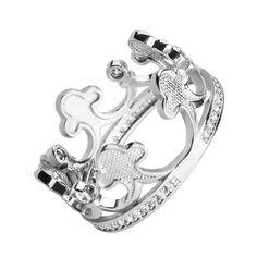 Серебряное кольцо-корона с фианитами 000102855 000102855 16.5 размера от Zlato
