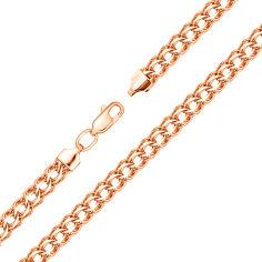 Акция на Браслет из красного золота Неаполь в плетении королевский бисмарк с алмазной гранью 000103646 18.5 размера от Zlato