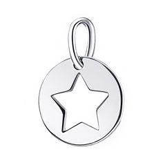 Серебряный кулон Форма звезды с родированием 000106714 от Zlato