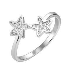 Серебряное кольцо Весенние цветочки с фианитами 000112674 16.5 размера от Zlato