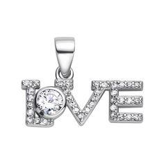 Серебряная подвеска Love c фианитами 000117939 от Zlato