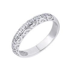 Серебряное кольцо Бернадет с дорожкой из финанитов 000118390 16 размера от Zlato