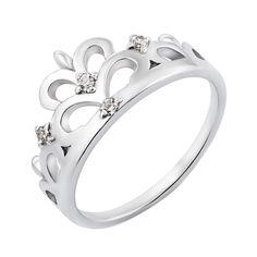 Серебряное кольцо-корона с фианитами 000119289 000119289 19.5 размера от Zlato