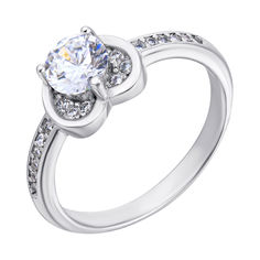 Серебряное кольцо с фианитами 000118400 000118400 16 размера от Zlato