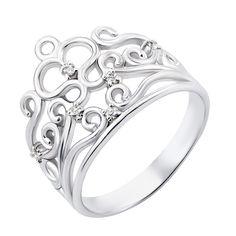 Серебряное кольцо-корона с фианитами 000119290 000119290 19 размера от Zlato