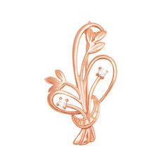 Брошь в красном золоте Нежные цветочки с фианитами 000122643 от Zlato