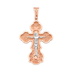 Акция на Православный золотой крест в комбинированном цвете 000123128 000123128 от Zlato