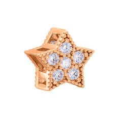 Акция на Шарм-звезда из красного золота с фианитами 000125339 000125339 от Zlato