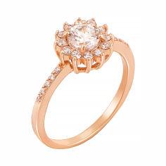 Акция на Золотое кольцо Миссори в красном цвете с фианитами 000126005 16.5 размера от Zlato