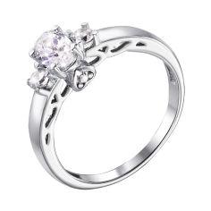 Серебряное кольцо Миранда с кристаллами циркония 000126099 17 размера от Zlato