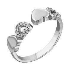 Серебряное разомкнутое кольцо с фианитами 000132554 000132554 б/р размера от Zlato