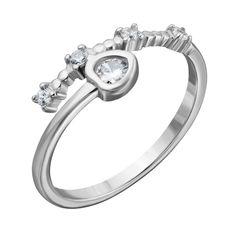 Серебряное кольцо с фианитами 000132552 000132552 17 размера от Zlato